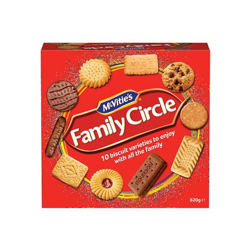 McVities Family Circle Biscuit Assortment 620g