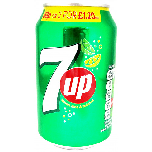 7Up Regular PM 69p 2 For £1.20