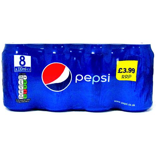 Pepsi Regular 8pack PM £3.99