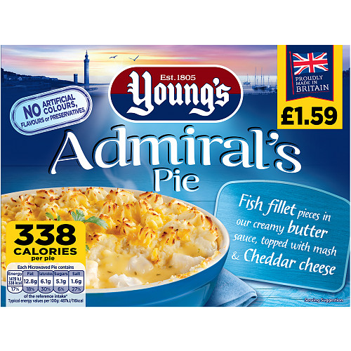 Youngs Admiral Pie PM £1.59