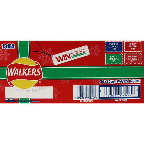Walkers Variety Crisps Box 36x25g