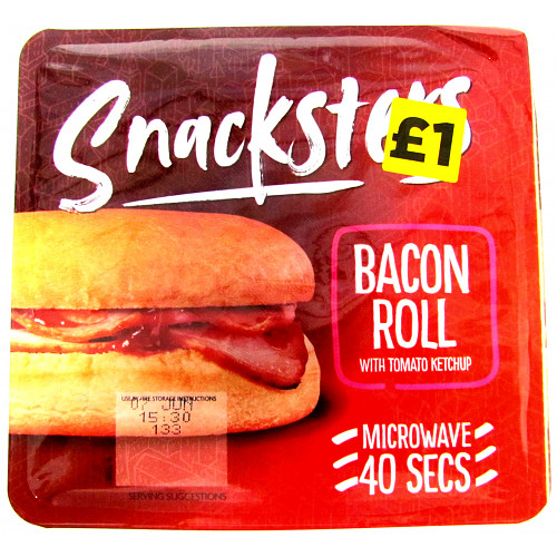 Snacksters Bacon Roll PM £1