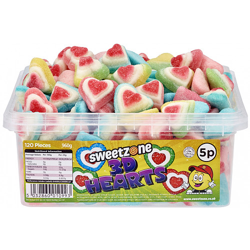 Sweetzone Fizzy 3D Hearts 5p