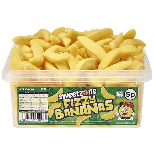 Sweetzone Fizzy Bananas 5p