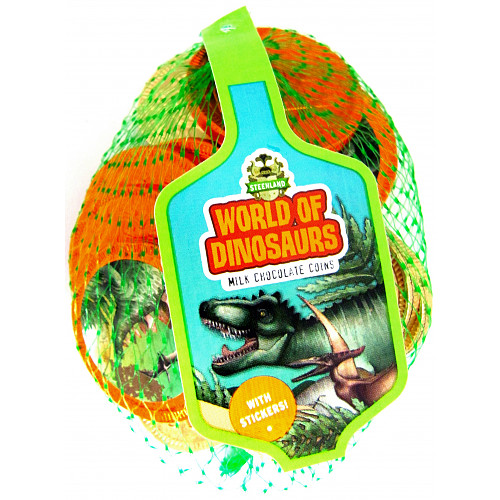 World Of Dinosaurs Milk Choc Coins Nets