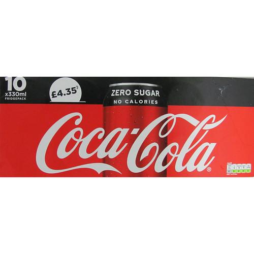 Coca-Cola Zero Sugar 10 x 330ml PM £4.35