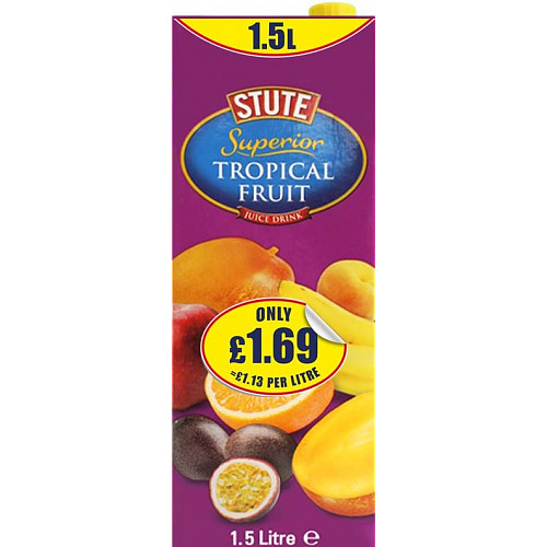 Stute Superior Tropical Juice Drink PM £1.69