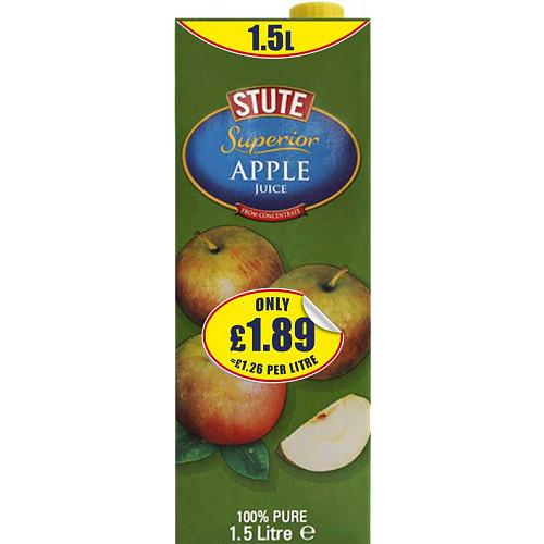 Stute Superior Apple Juice Drink PM £1.89