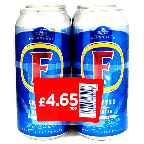 Fosters 4 Pack PM £4.65