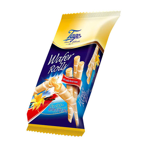 Tago Wafer Rolls Vanilla Cream PM 89p