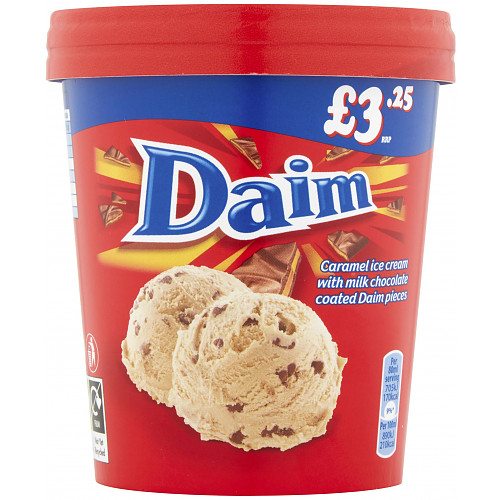 Daim Ice Cream Tub 480ml