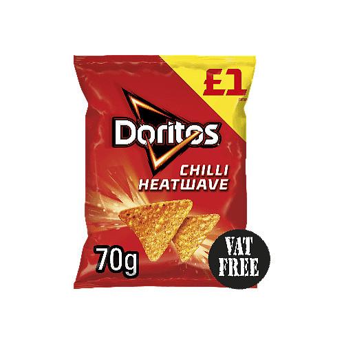 Doritos Chilli Heatwave Tortilla Chips PMP 70g