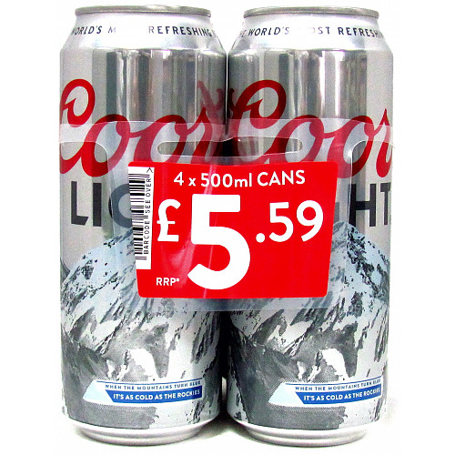 Coors Light 4 Pack PM £5.59