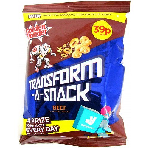 Golden Wonder Transform A Snack Beef PM 39p