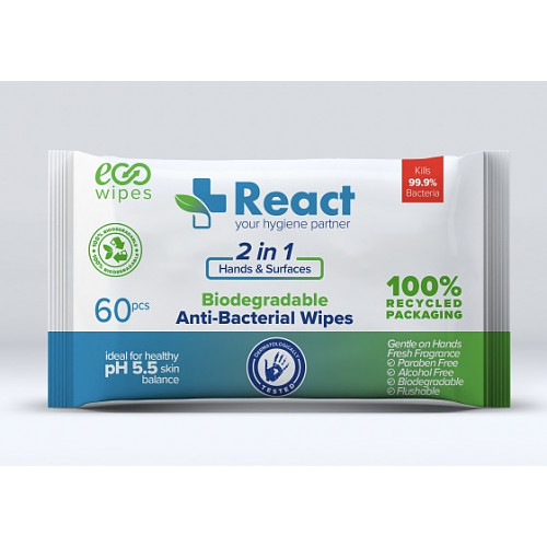 React Anti Bacterial Wipes