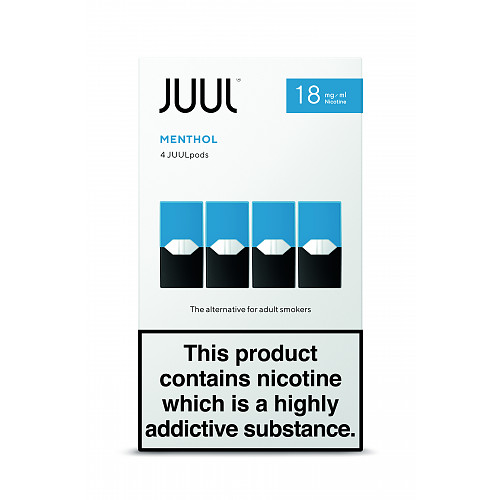JUULpods Menthol 18mg/ml (Pack of 4)