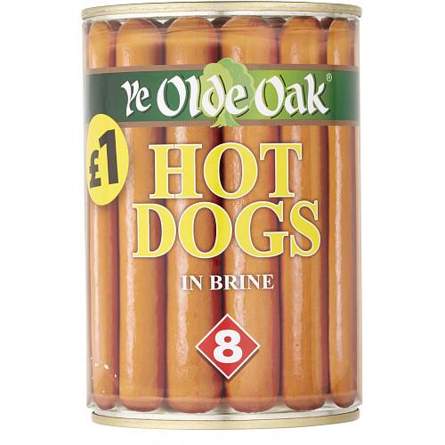 Ye Olde Oak 8 Hotdogs in Brine 400g