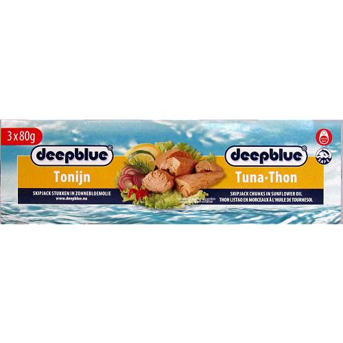 Deep Blue Tuna Chunks In Sunflower Oil