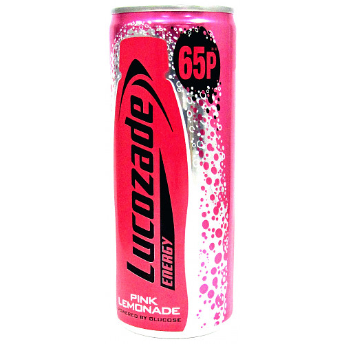 Lucozade Energy Pink Lemonade Can 65p