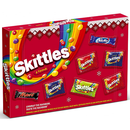 Skittles & Friends Sweets Medium Christmas Selection Box 150.5g