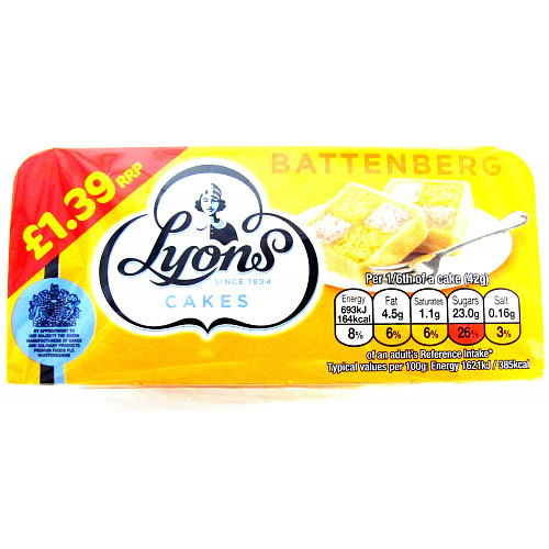 Lyons Std Battenberg PM £1.39