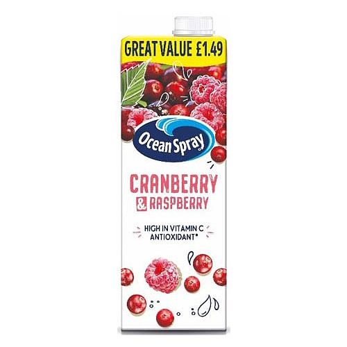 Ocean Spray Cranberry & Raspberry PM £1.49