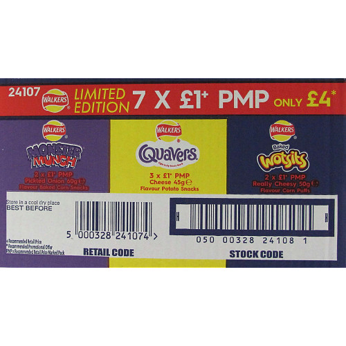 Walkers Variety Snack Box PM £1