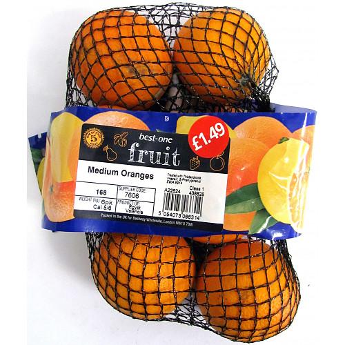 Bestone Oranges Medium 6pack