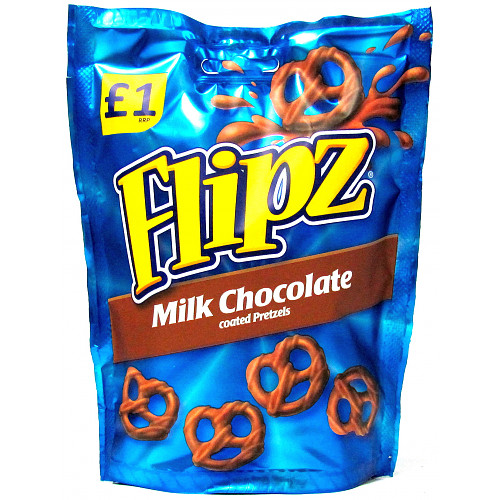 Flipz Milk Chocolate Pretzels PM £1