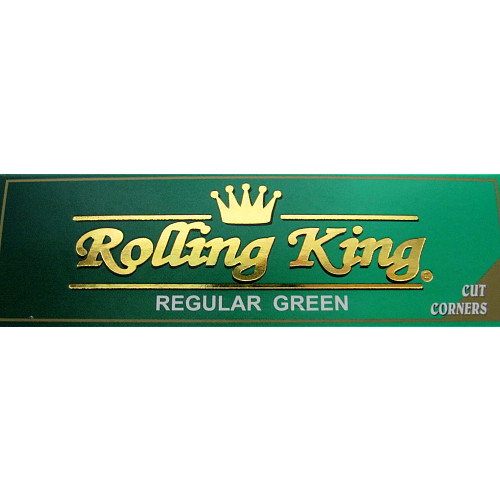 Rolling King Regular Green Papers With Cut Corner