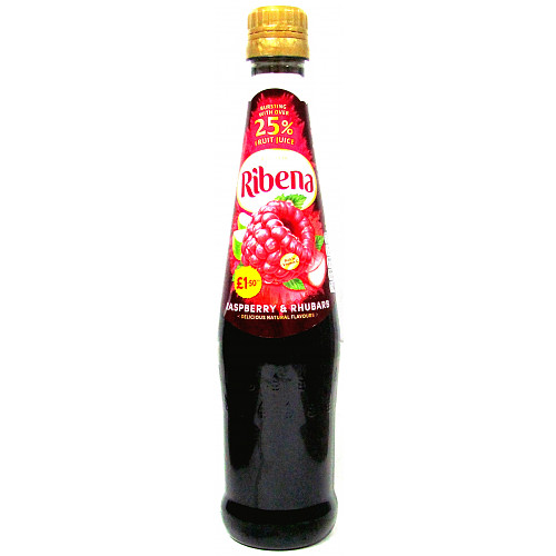 Ribena Raspberry And Rhubarb Concentrate PM £1.50