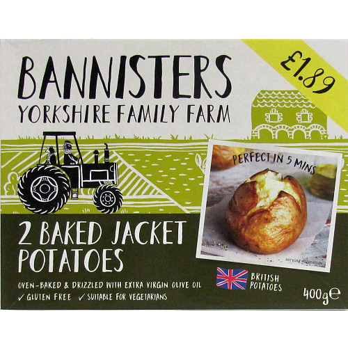 Bannisters Farm 2 Baked Jacket Potatoes PM £1.89