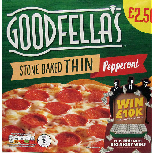 Goodfella's Stone Baked Thin Pepperoni PM £2.50