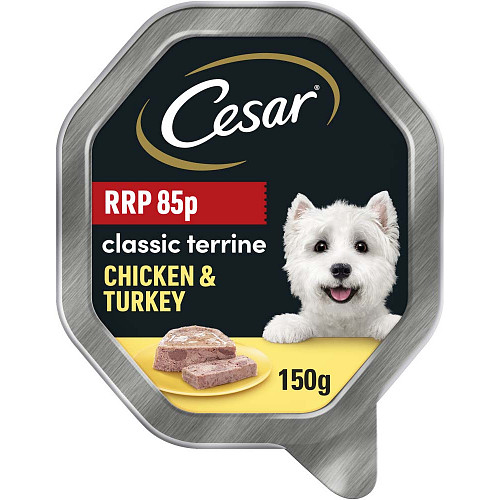Cesar Classic Chicken & Turkey In Loaf 85p