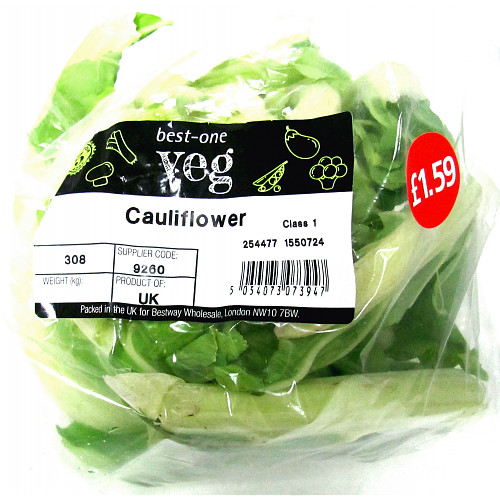 Bestone Cauliflower PM £1.59