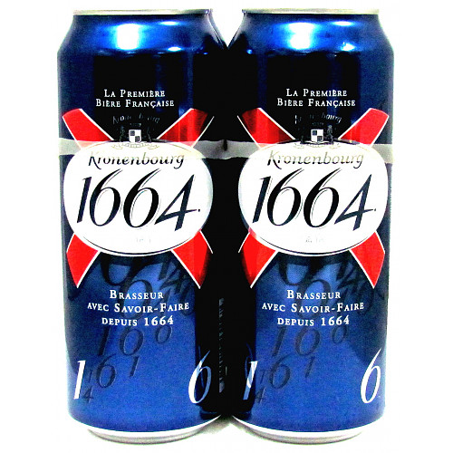 Kronenbourg 1664 Lager Beer Can 4 x 500ml