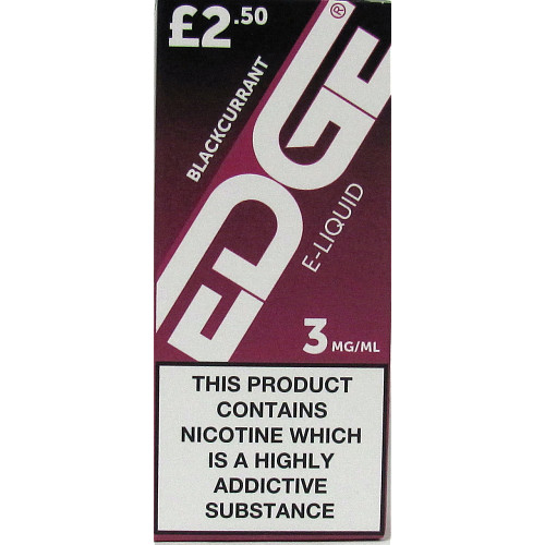 Edge Blackcurrant 3Mg PM £2.50