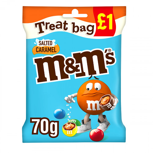 M&M's Salted Caramel Chocolate £1 PMP Treat Bag 70g