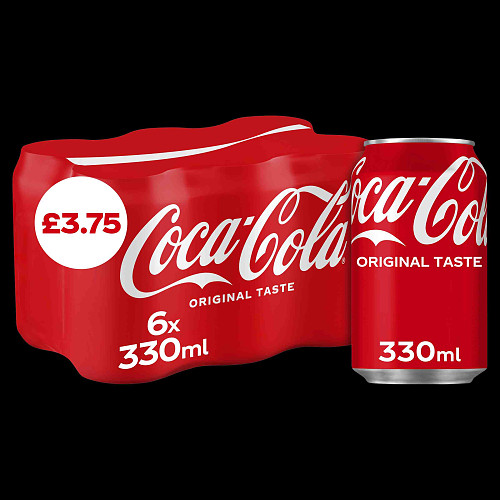 Coca-Cola Original Taste 6 x 330ml PM £3.75