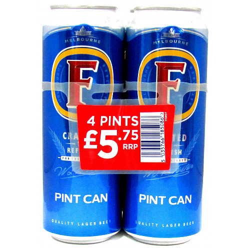 Fosters Lager 4 Pack PM £5.75