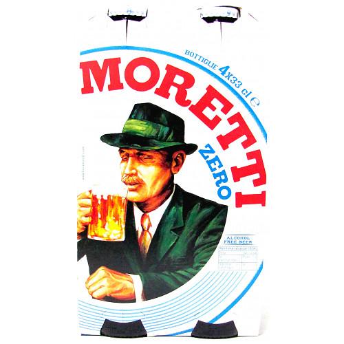 Birra Moretti Zero Alcohol-Free Beer 4 x 330ml Bottle