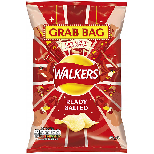 Walkers Ready Salted Crisps 45g