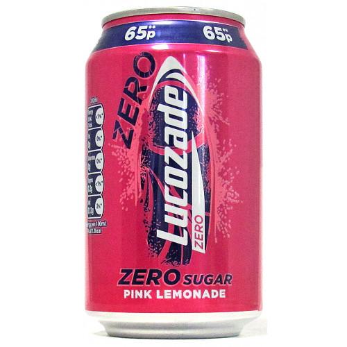 Lucozade Zero Pink Lemonade 65p