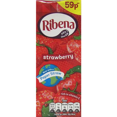 Ribena Strawberry Carton PM 59p