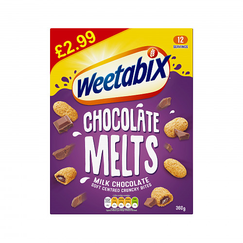 Weetabix Milk Chocolate Melts Case 6 x 360g PMP £2.99