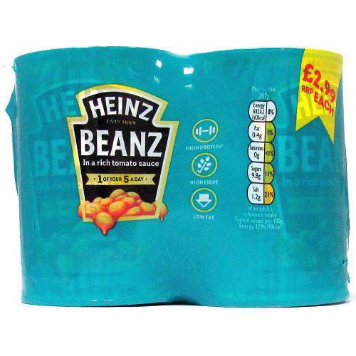 Hz Baked Beans 4pk PM £2.99