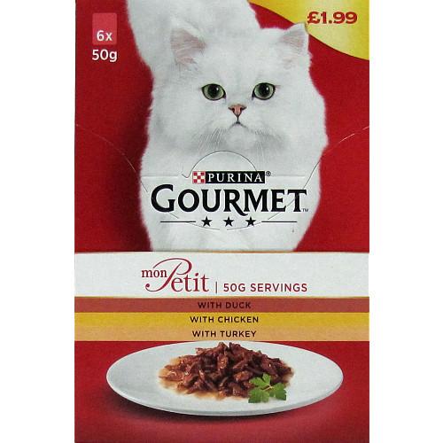 Gourmet Mon Petit Poultry 6X50g PM £1.99