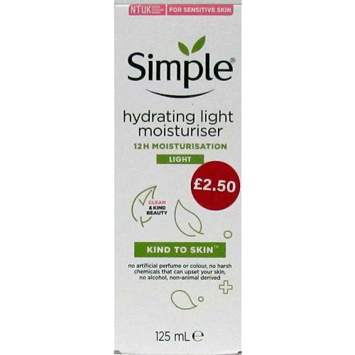 Simple Hydrating Light Moisturiser PM £2.50