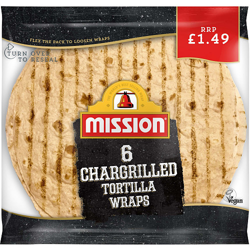 Mission 6 Chargrilled Tortilla Wraps 368g