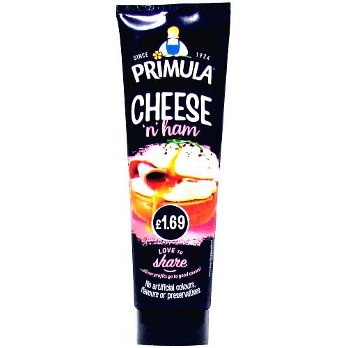 Primula Cheese Spread With Ham Tube PM £1.69